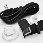 Сетевой шнур, крышка кувшина, носик с угольным фильром дистиллятора BaiStra BSC-WD32